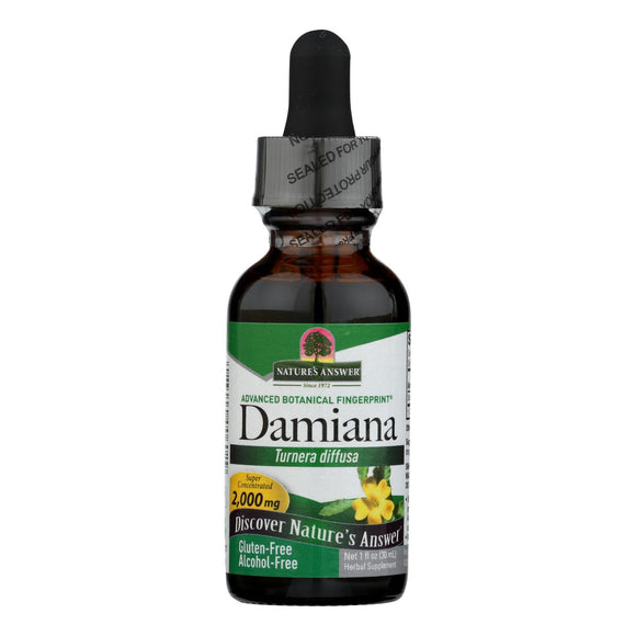 Nature's Answer Damiana Leaf Alcohol Free - 1 fl oz