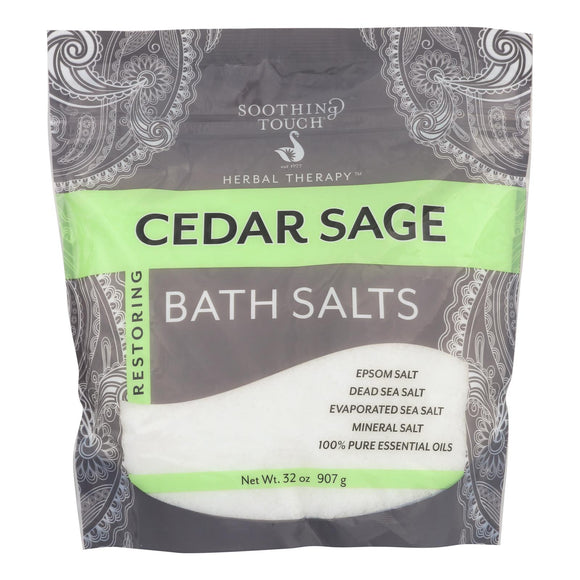 Soothing Touch Bath Salts - Cedar Sage - 32 oz