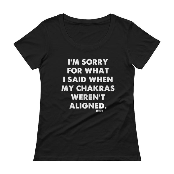 Ladies' Scoopneck Chakra Sorry tee