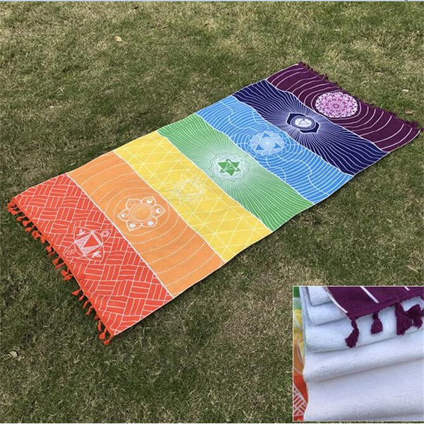 7 Chakras | Color Therapy Throw - ZEN30 Chakra Glasses Color Therapy Glasses
