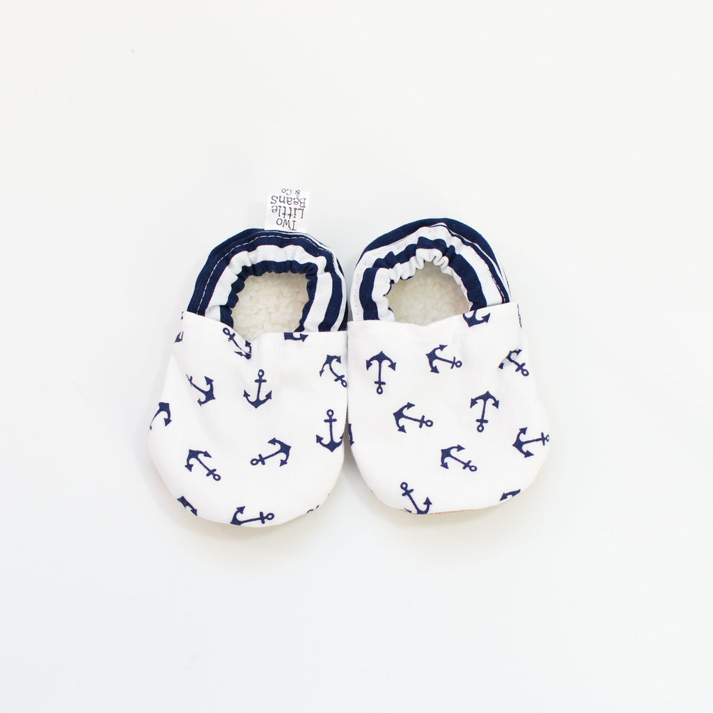 B O O T I E S | Tossed Anchors in Navy