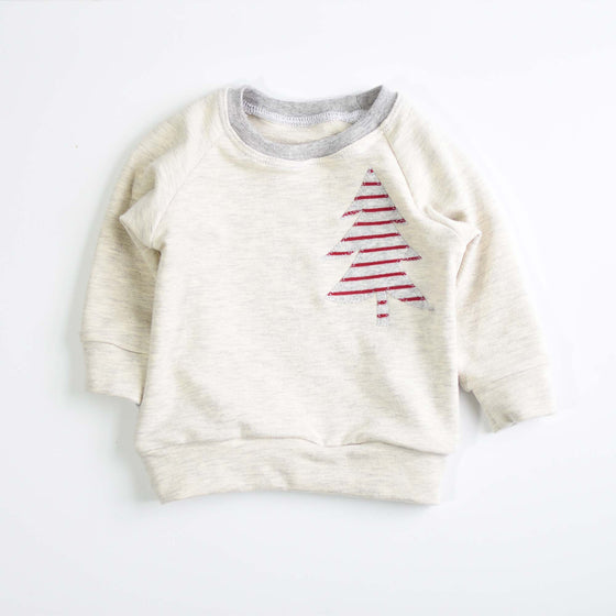Raglan Sweatshirt | Holiday Stripe