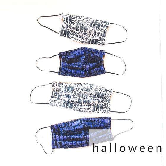 SALE! Fabric Face Mask with Filter Pocket | H A L L O W E E N