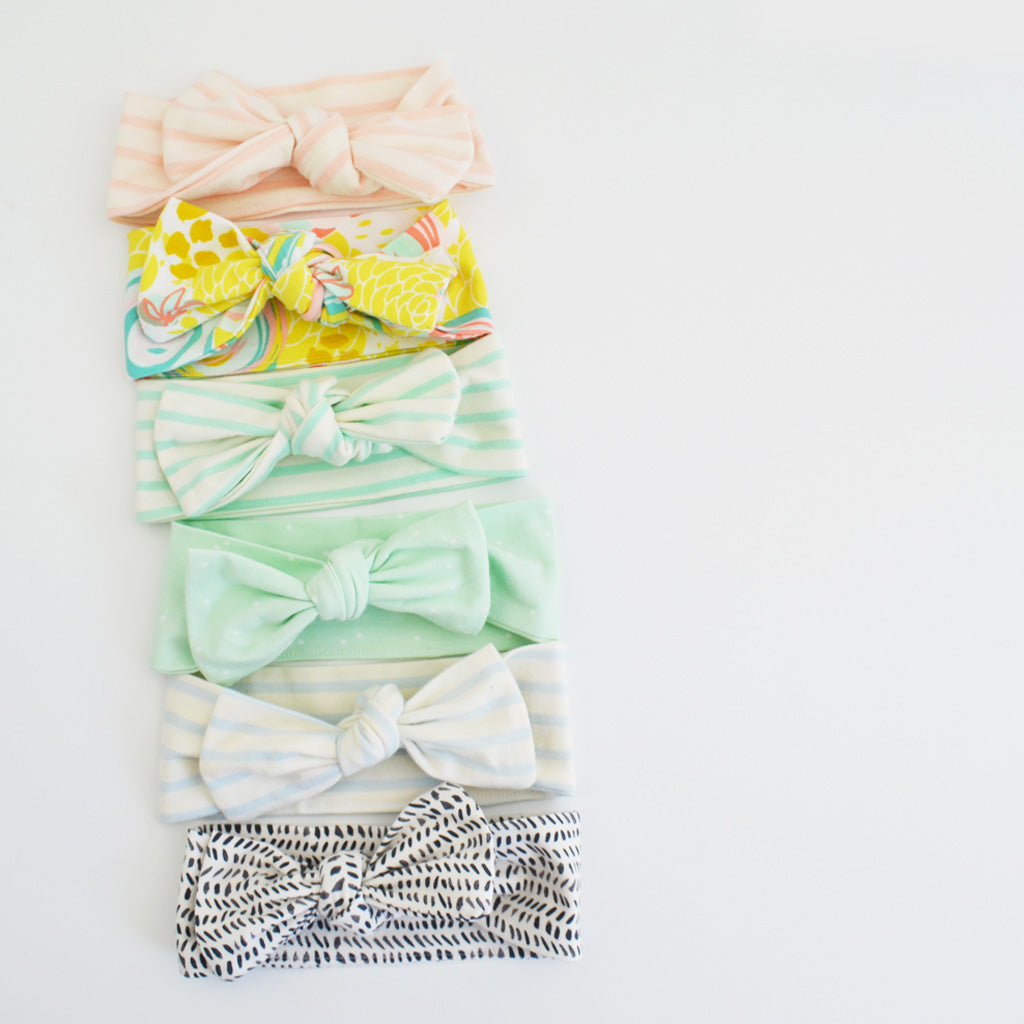 T O P K N O T | Headbands | Bubblegum Stripe