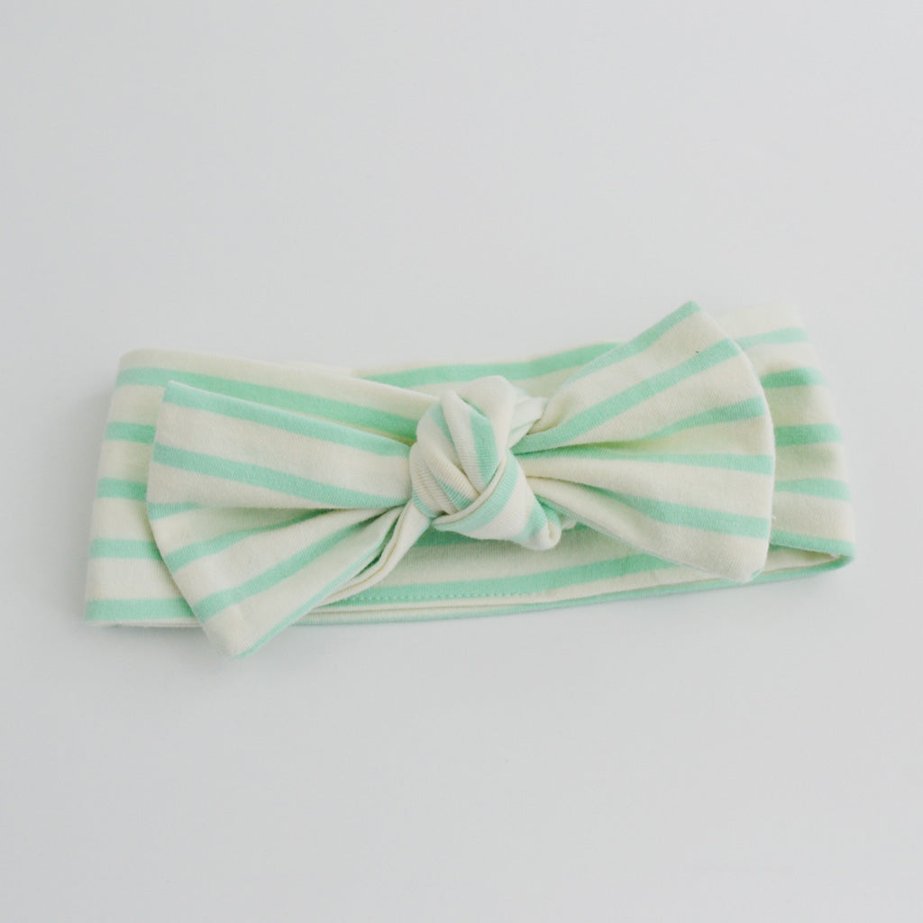 T O P K N O T | Headbands | Mint Stripe