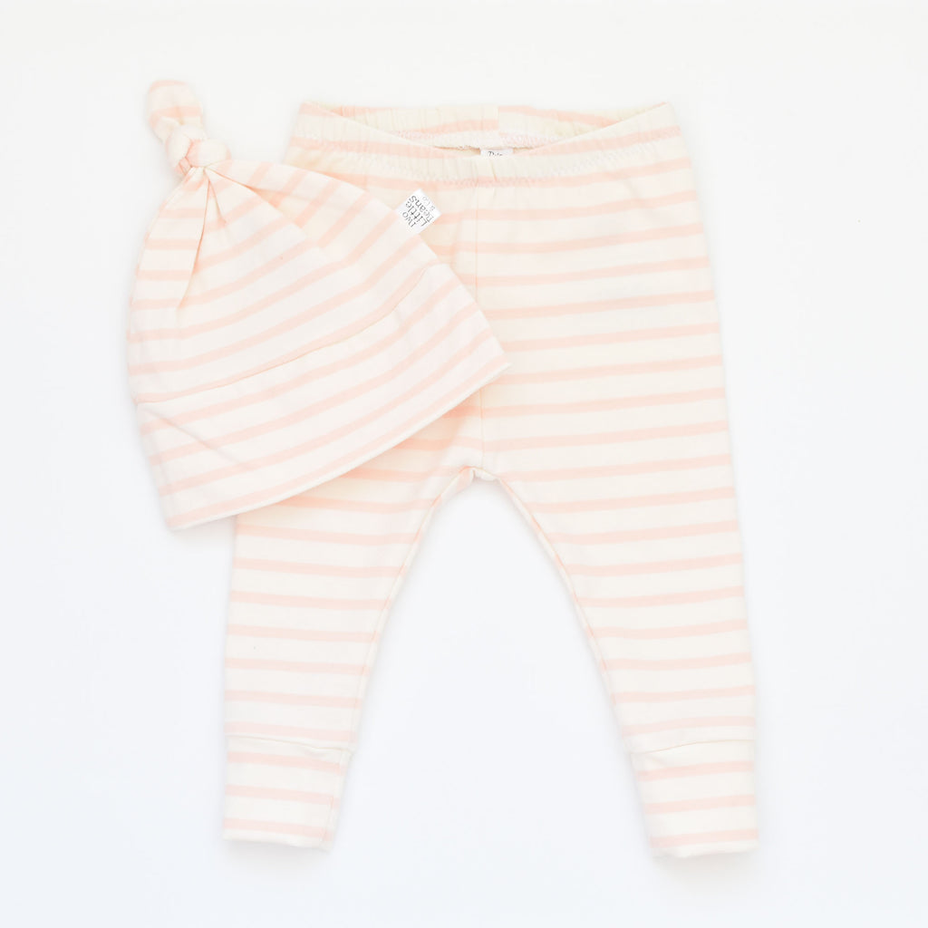 G I F T S E T S | Beanie & Leggings | Bubblegum Stripe