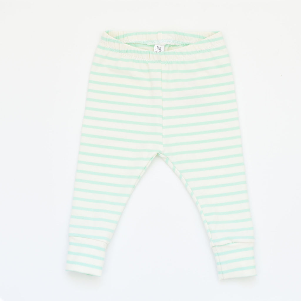 G I F T S E T S | Beanie & Leggings | Mint Stripe