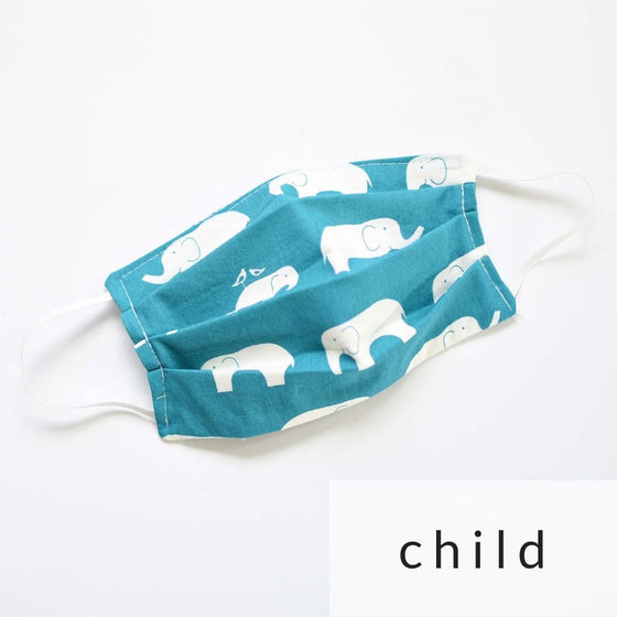 Cloth Face Mask with Filter Pocket | Child w/ toggles