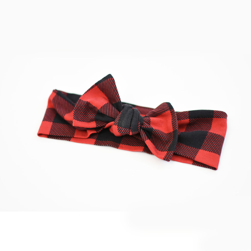 T O P K N O T | Headbands | Buffalo Plaid