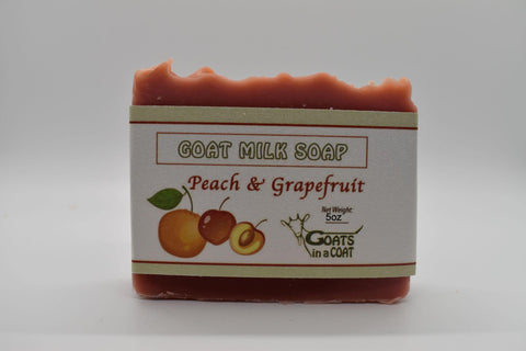 Peach Grapefruit Goat Milk Soap 5oz