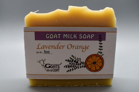 Lavender Orange Essential Oil Goat Milk Soap 5oz