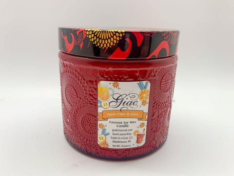 Apple Cider Clove Coconut Soy Candle 8 ounces - Goats in a Coat