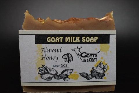 Almond Honey Goat Milk Soap - Goats in a Coat
