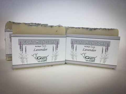 Lavender Essential Oil Goat Milk Soap - Goats in a Coat