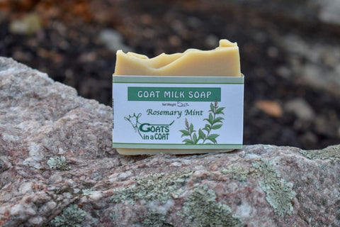 Rosemary Mint Goat Milk Soap - Goats in a Coat