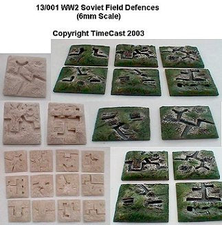 13/001 WW2 Soviet Field Defenses