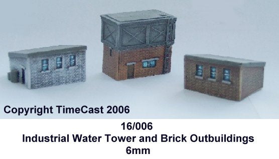 16/006 6mm Industrial Water Tower & 2 Outbuildings