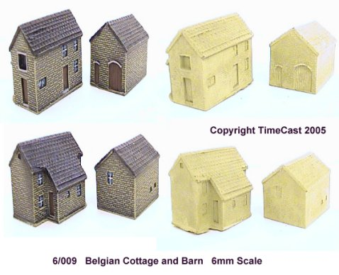 6/009 19th-20th c. Belgian Cottage and Barn