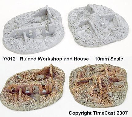 7/012 Ruined Workshop and House (2 pcs)