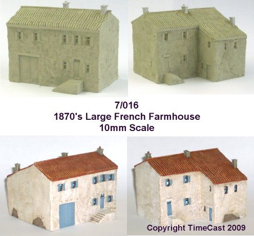 7/017 1870 Large French Farmhouse