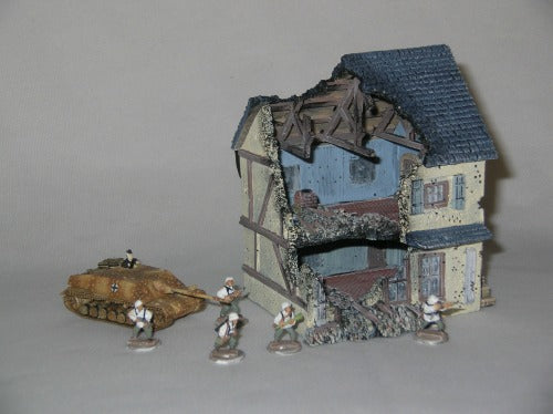PFR3127 Battle Damaged French Two-Story Wine Shop