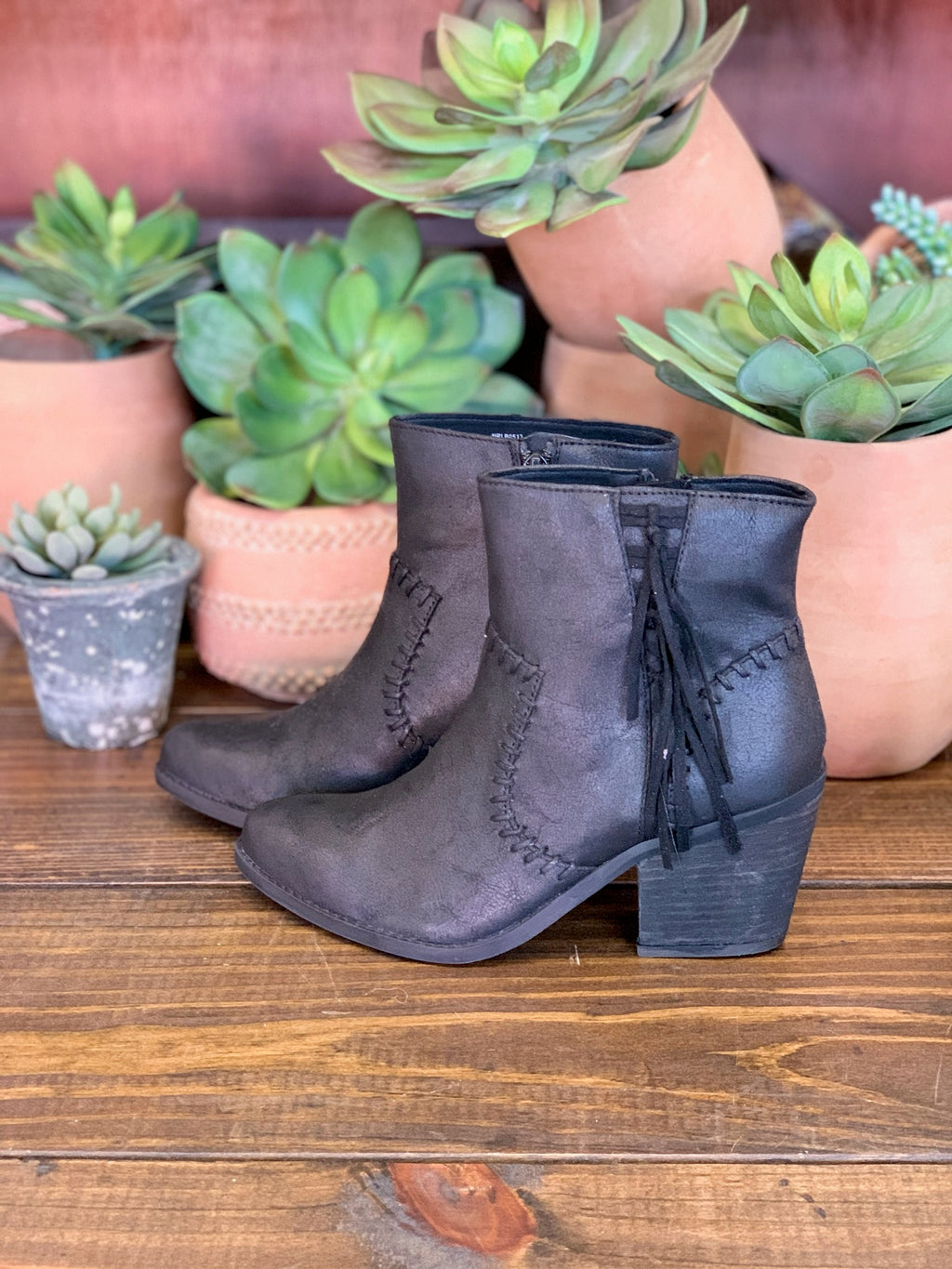 Zaine Black Bootie - the-attic-boutique-and-gift