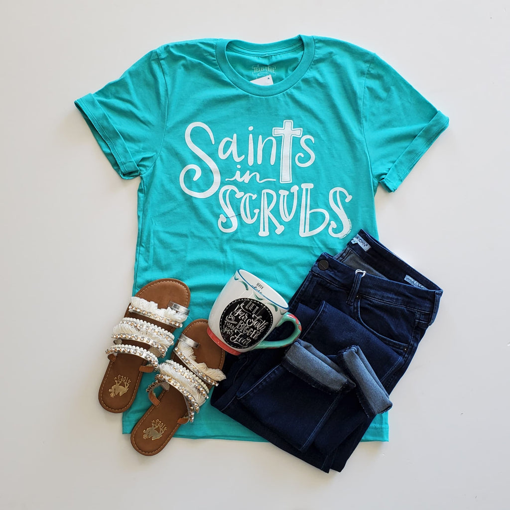 Saints in Scrubs Tee - the-attic-boutique-and-gift