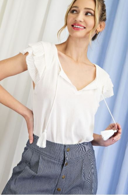 Jane Ruffle Blouse