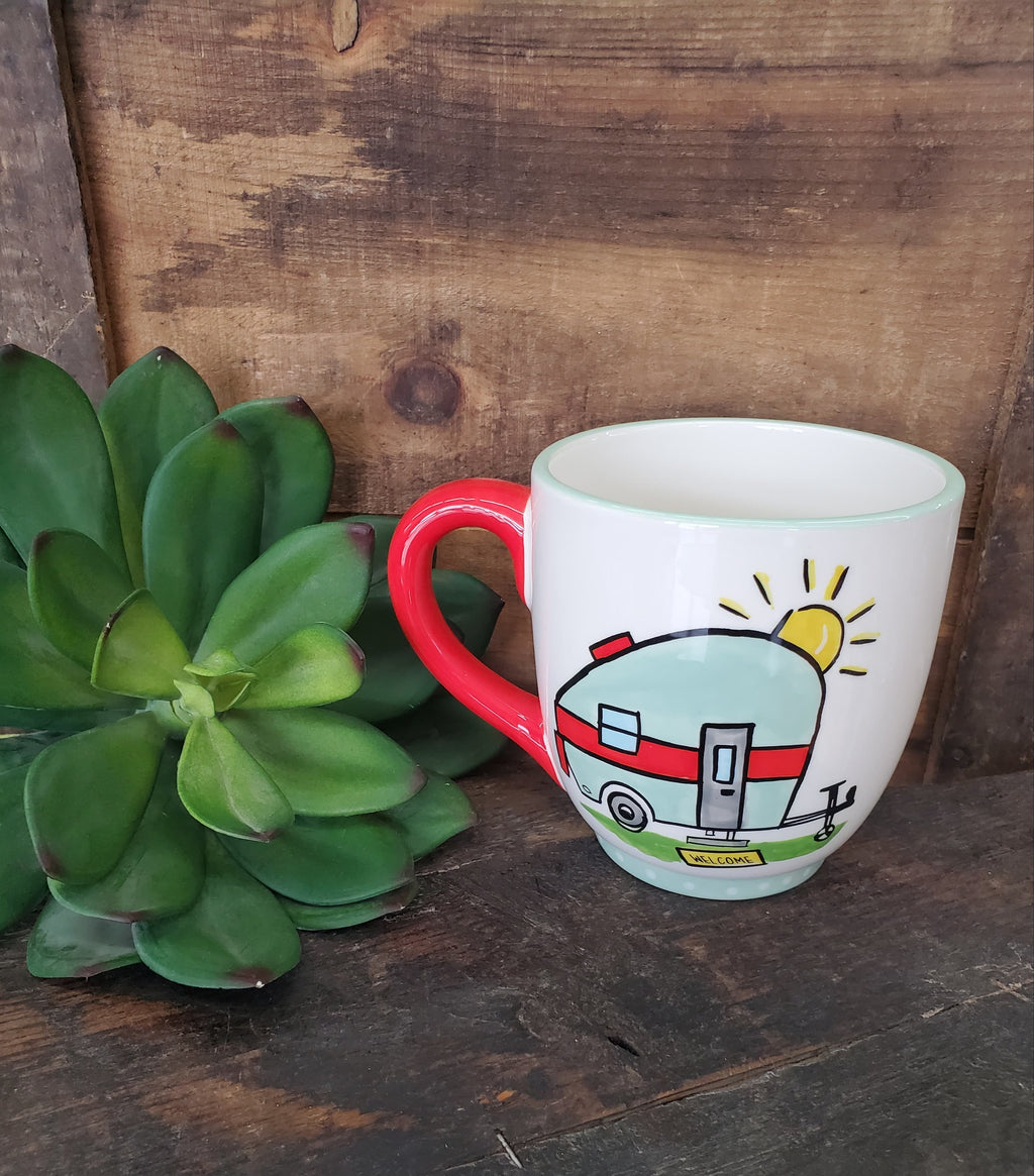 Life is Adventure Camper Mug - the-attic-boutique-and-gift