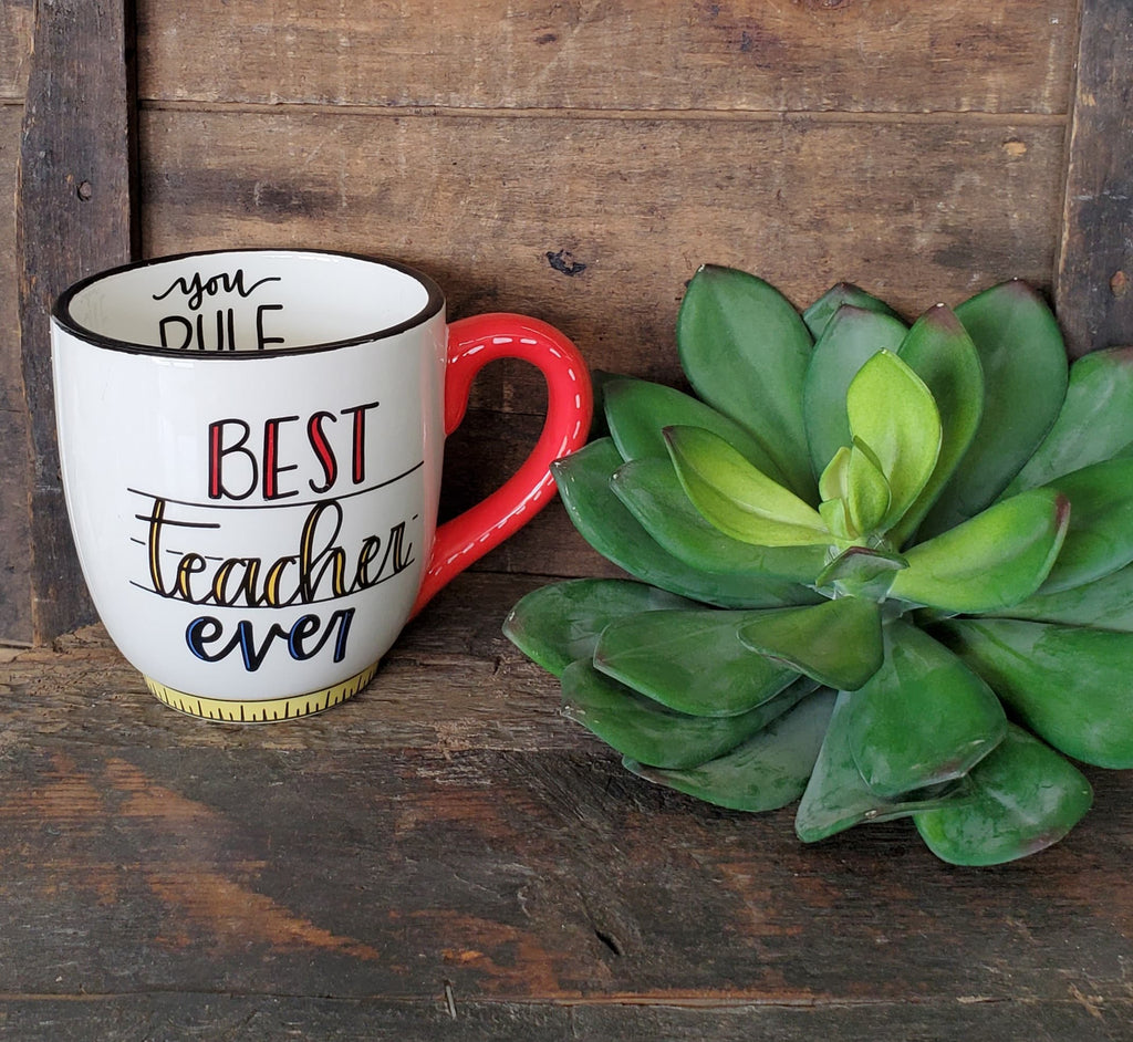 Best Teacher Ever Mug - the-attic-boutique-and-gift