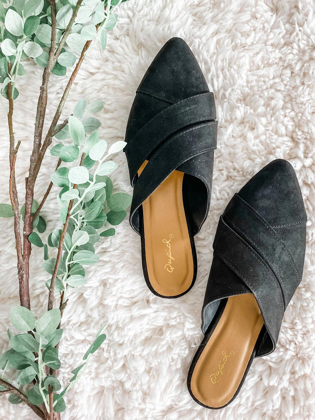 Black Suede Mule - the-attic-boutique-and-gift