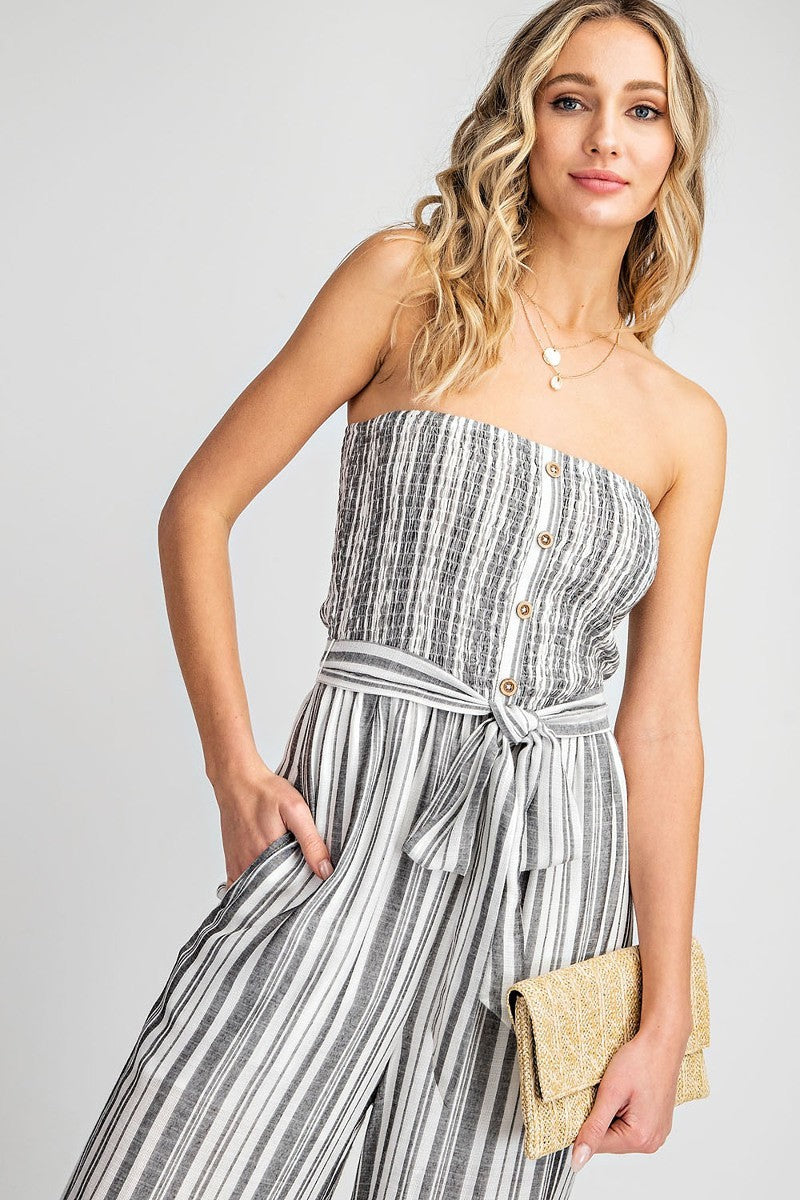 Charlotte Stripe Jumpsuit - the-attic-boutique-and-gift