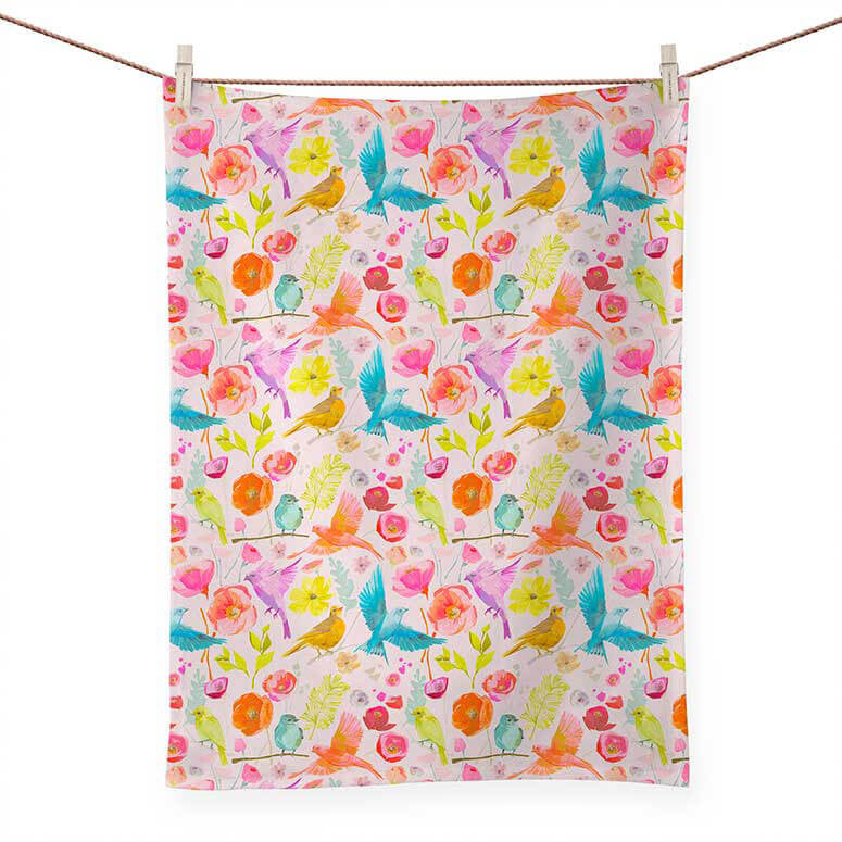 Lovebirds Aflight Towel - the-attic-boutique-and-gift