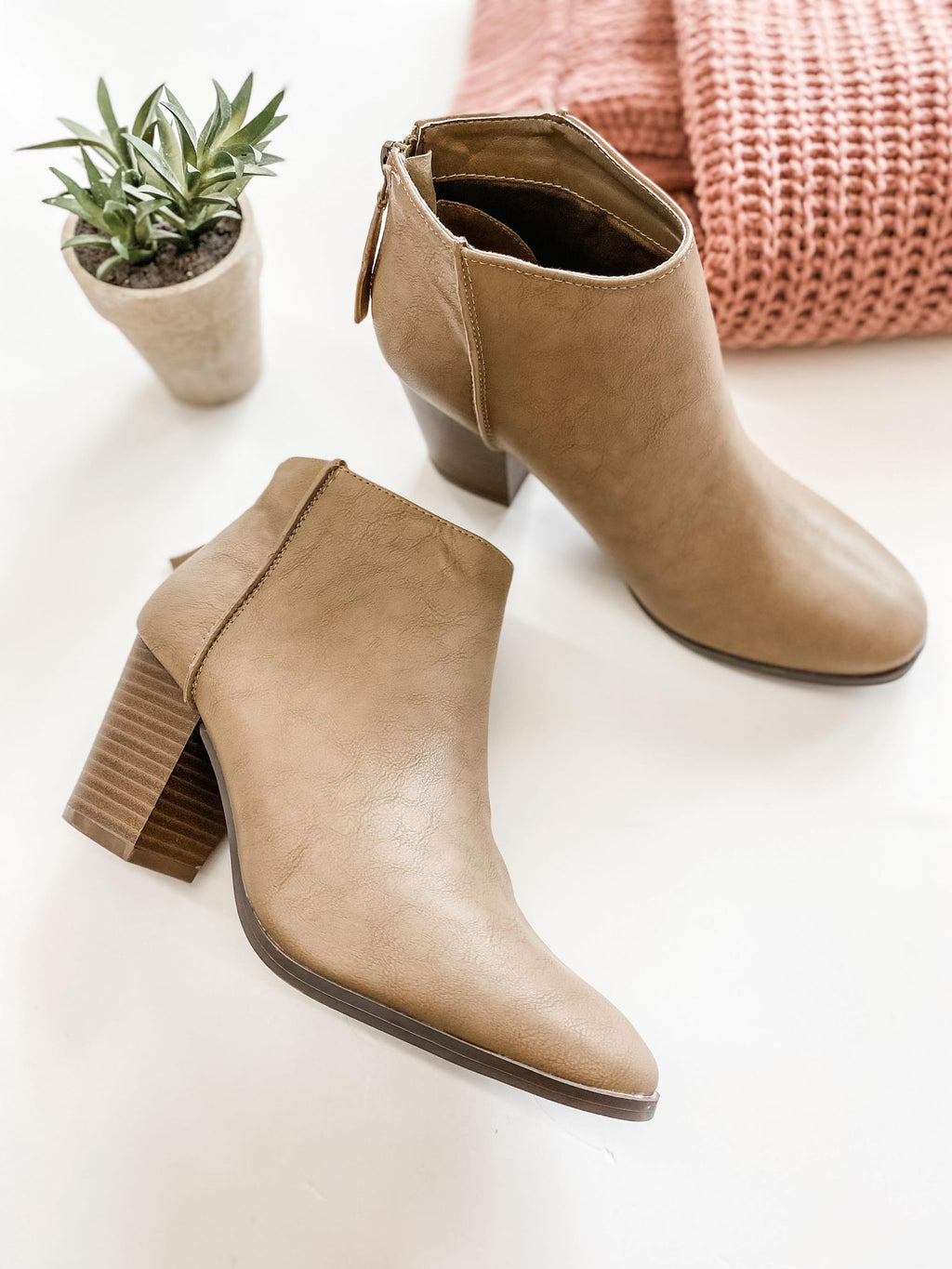 Reda Taupe Bootie - the-attic-boutique-and-gift