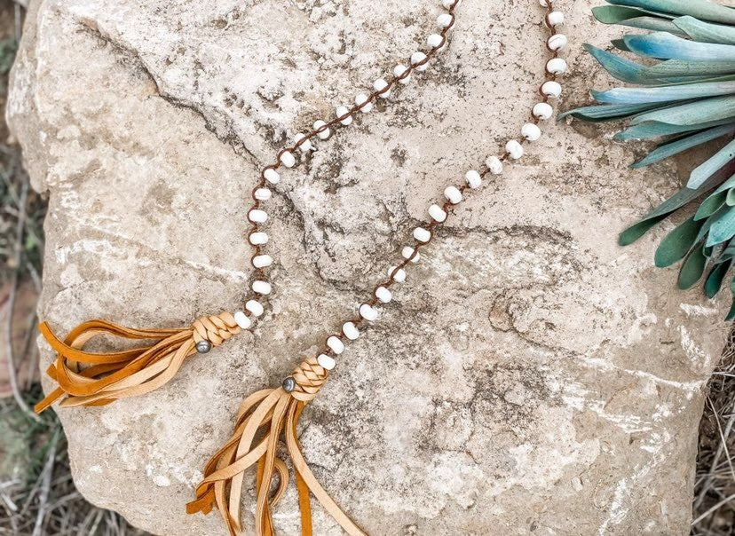 White Turquoise Lariat - the-attic-boutique-and-gift