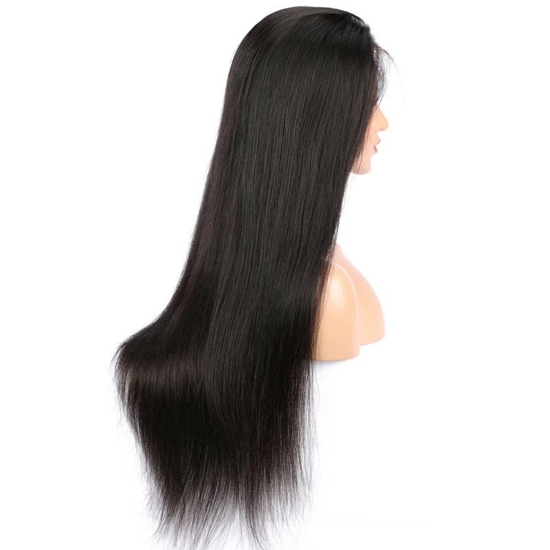 "Straight Brazilian Transparent Lace Wig (8""-28"")"