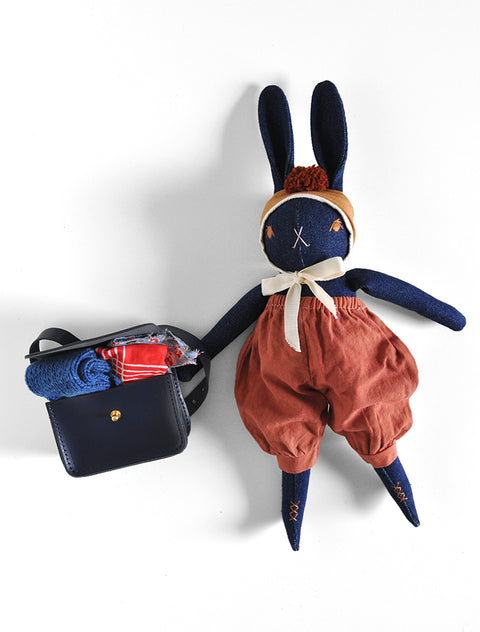 PDC Medium Denim Rabbit + Honey & Toast Satchel Bundle