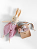 PDC Medium Peach Rabbit + Honey & Toast Satchel Bundle