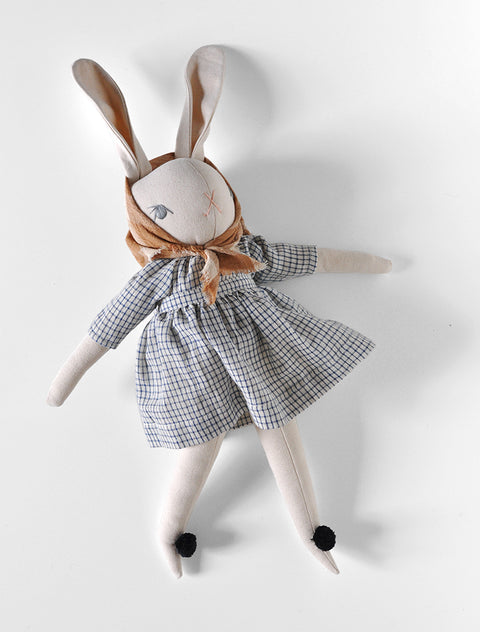 PDC Cream Large Rabbit- HARPER in Cream Grid