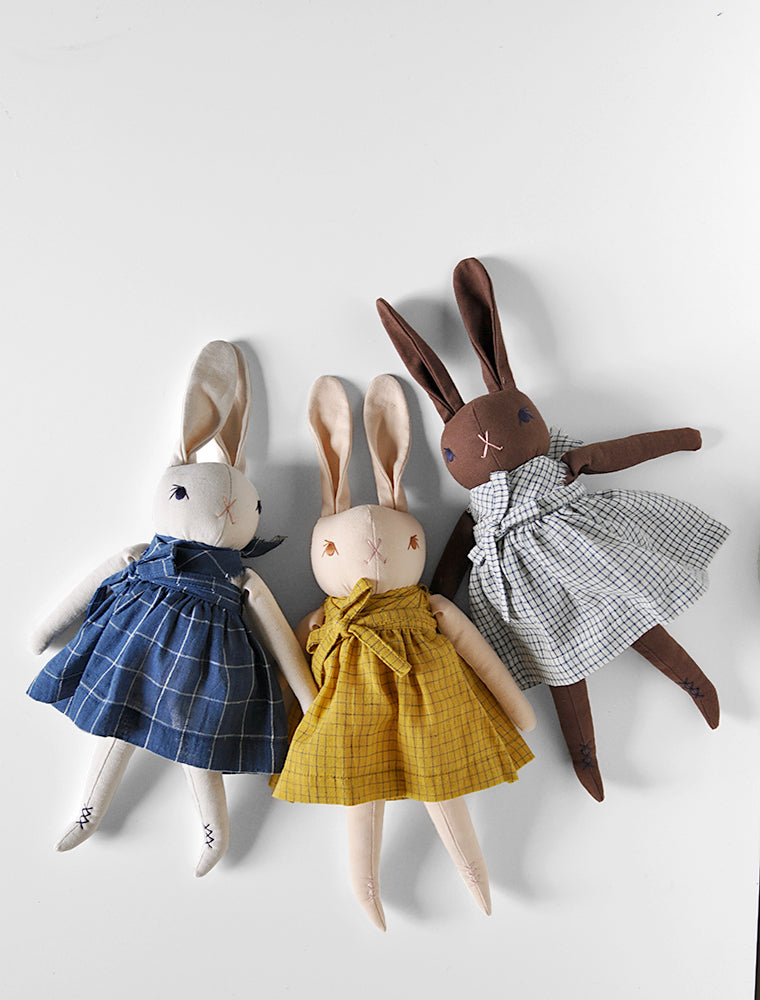 PDC Medium Rabbit in Organic Hand Woven Skirts