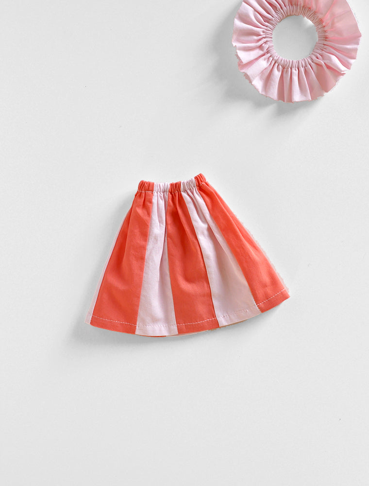 PDC Pieced Shift Dress: Coral Red/ Blossom Pink