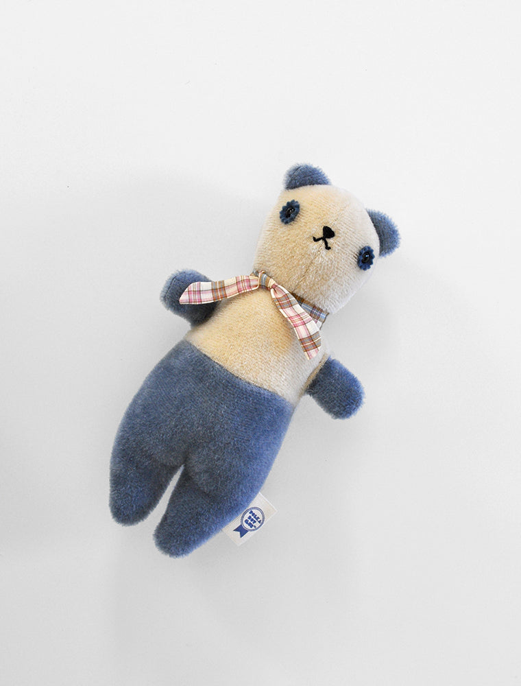 PDC + DÔEN hand dyed PDC Bear: cream/ocean blue