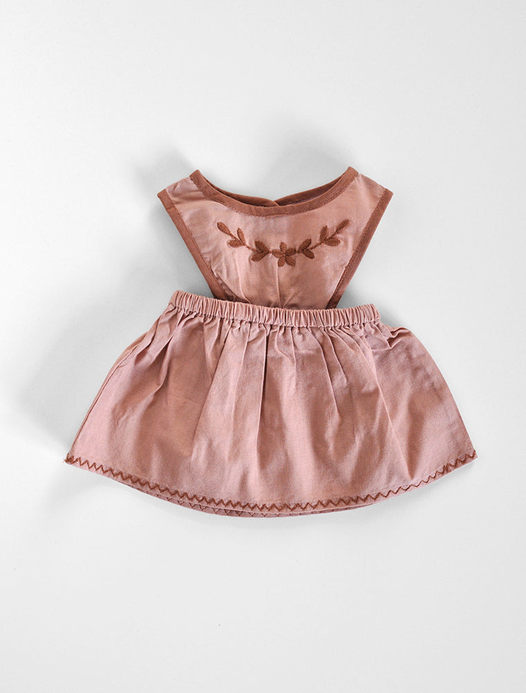 Apolina for the Polka Dot Club- Mini Bobbie Pinafore in Moroccan Pink