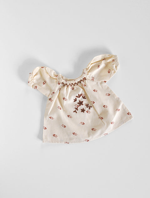 Apolina for the Polka Dot Club- Mini Sissy Dress in Cream Print