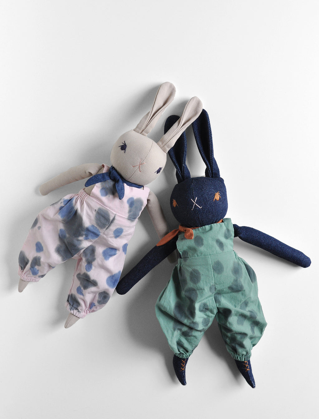 PDC Medium Rabbit- in hand dyed overalls
