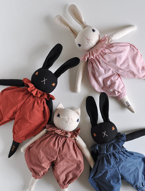 PDC Medium Rabbit in Bloomers and Neck Ruffle