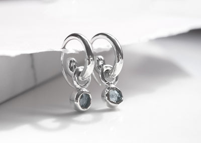 Oasis Aquamarine Mini Hoops