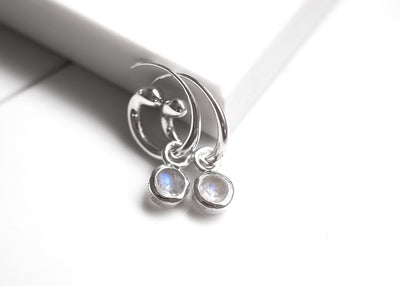 Phobos Moonstone Hoops