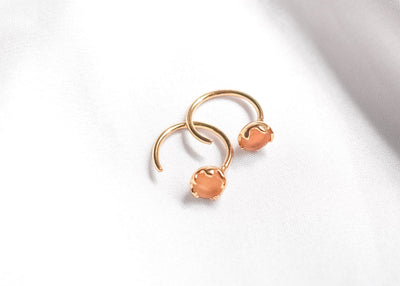 Rich Gal Citrine Half Hoops
