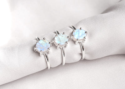 Lunaticious V Moonstone Ring
